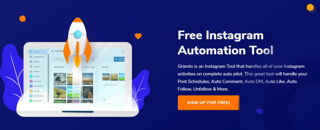 Gramto, free Instagram automation software