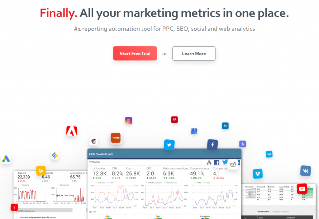 Supermetrics, an Instagram analytics tool.